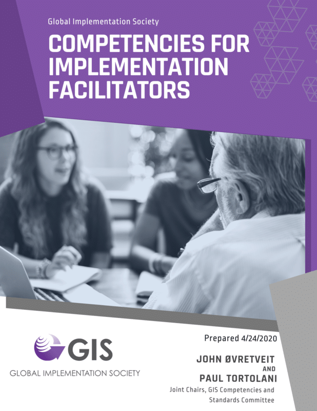 Competencies for Implementation Facilitators