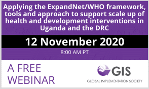 WEBINAR: Applying the ExpandNet/WHO framework, tools and approach to support scale up
